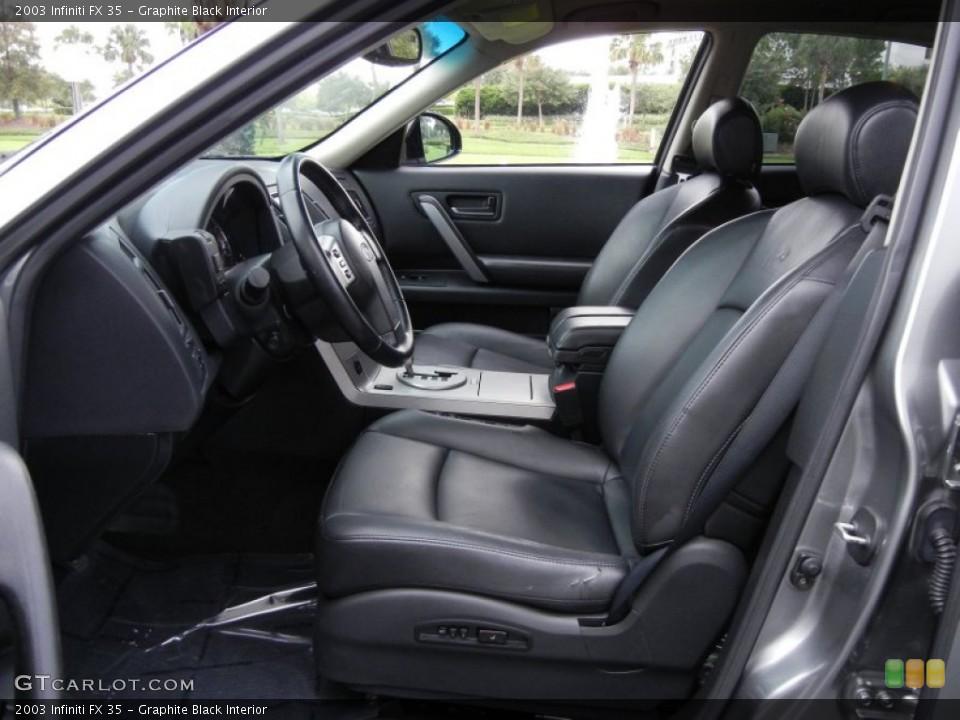 Graphite Black Interior Photo for the 2003 Infiniti FX 35 #53535455