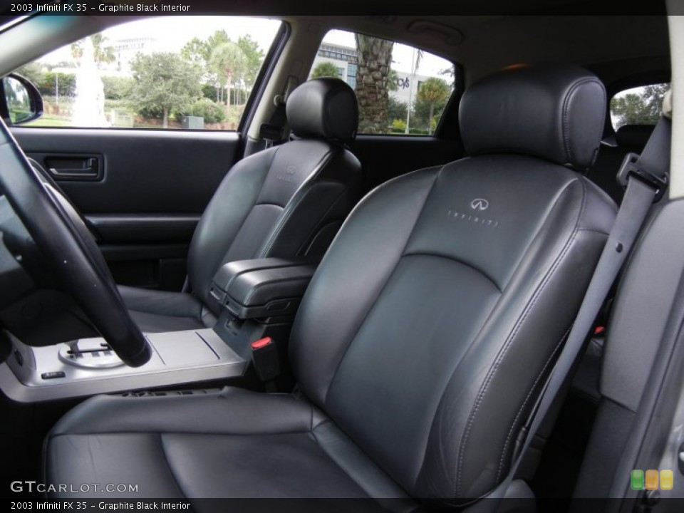 Graphite Black Interior Photo for the 2003 Infiniti FX 35 #53535475