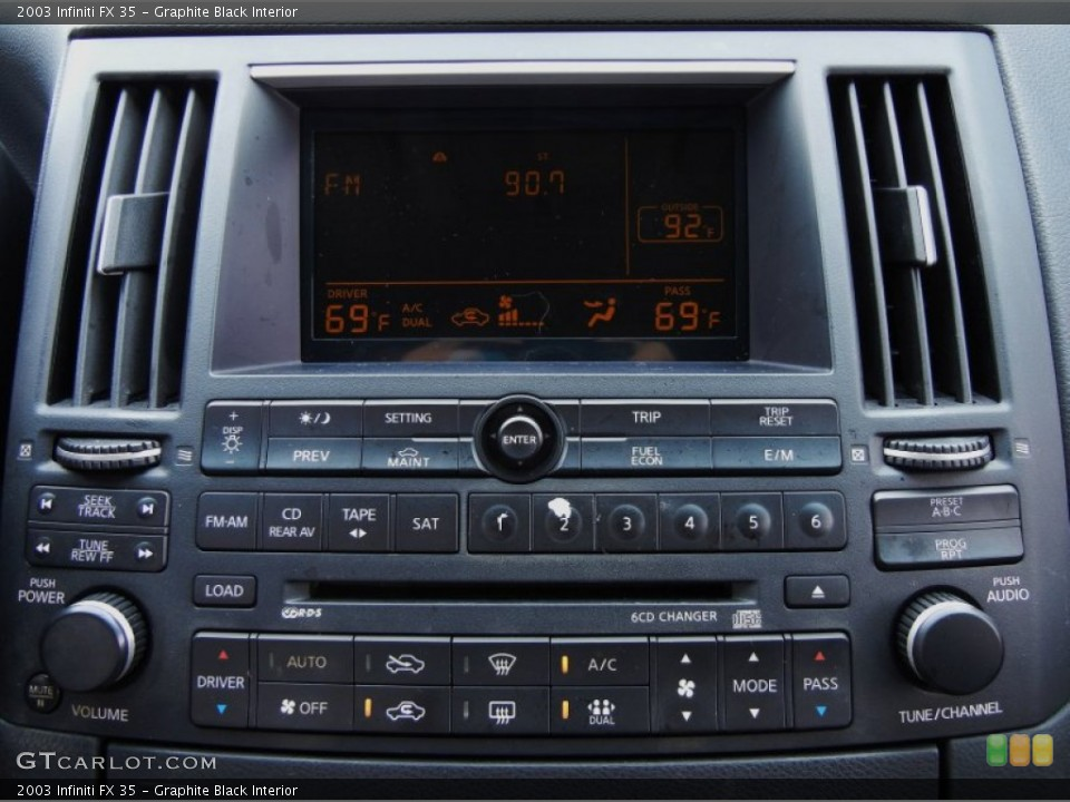 Graphite Black Interior Controls for the 2003 Infiniti FX 35 #53535668