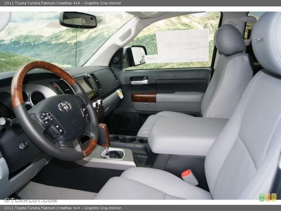 Graphite Gray Interior Photo for the 2011 Toyota Tundra Platinum CrewMax 4x4 #53549882
