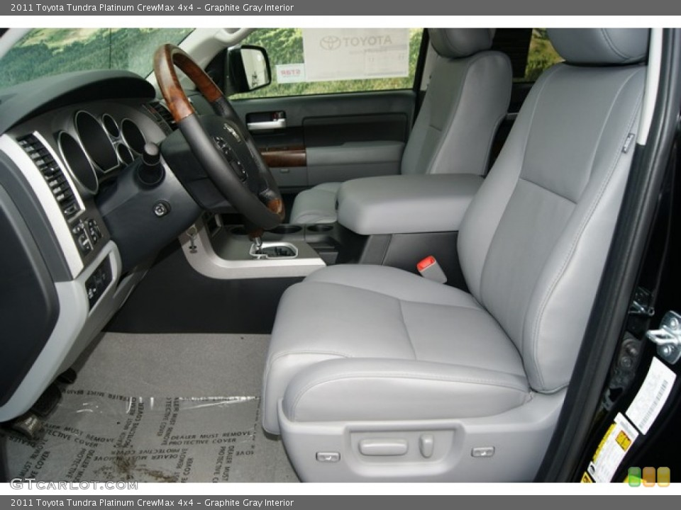 Graphite Gray Interior Photo for the 2011 Toyota Tundra Platinum CrewMax 4x4 #53549898