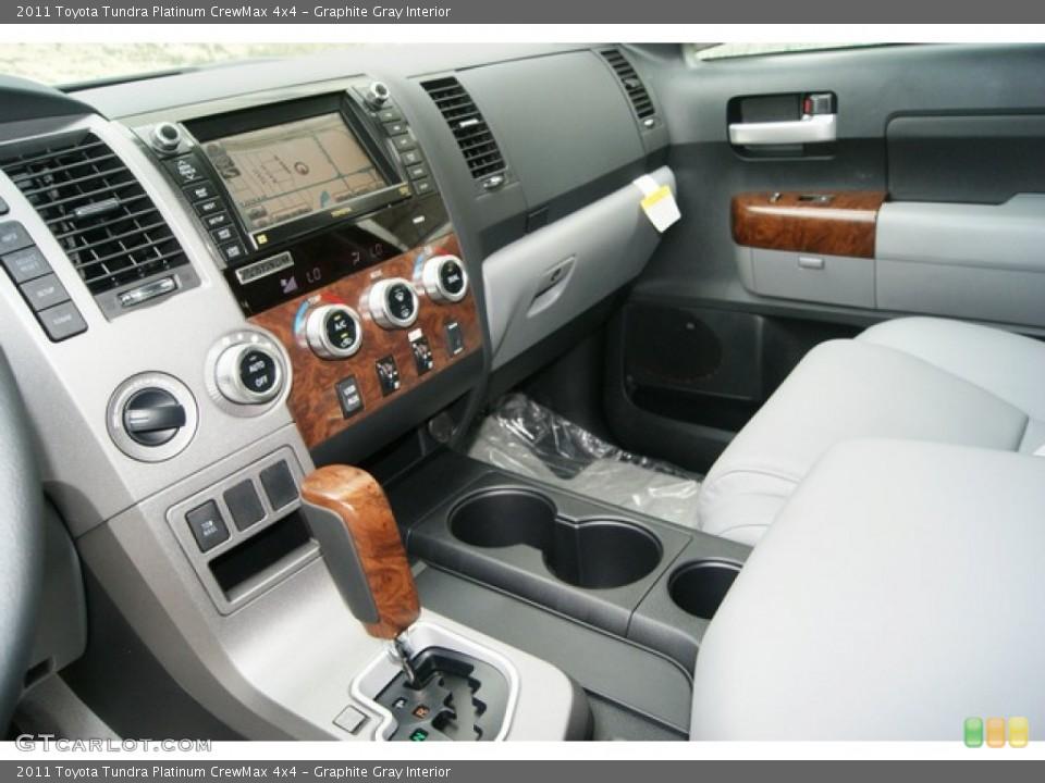 Graphite Gray Interior Controls for the 2011 Toyota Tundra Platinum CrewMax 4x4 #53549946
