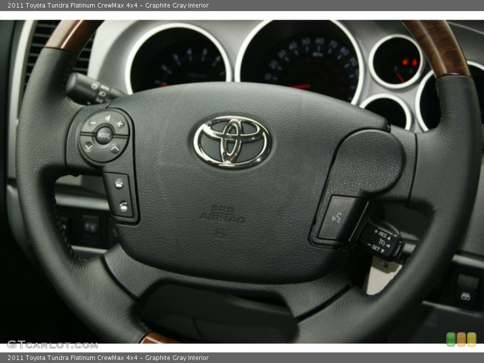 Graphite Gray Interior Steering Wheel for the 2011 Toyota Tundra Platinum CrewMax 4x4 #53550024