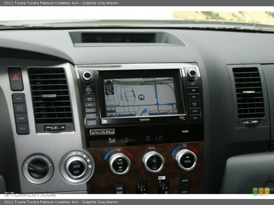 Graphite Gray Interior Navigation for the 2011 Toyota Tundra Platinum CrewMax 4x4 #53550038