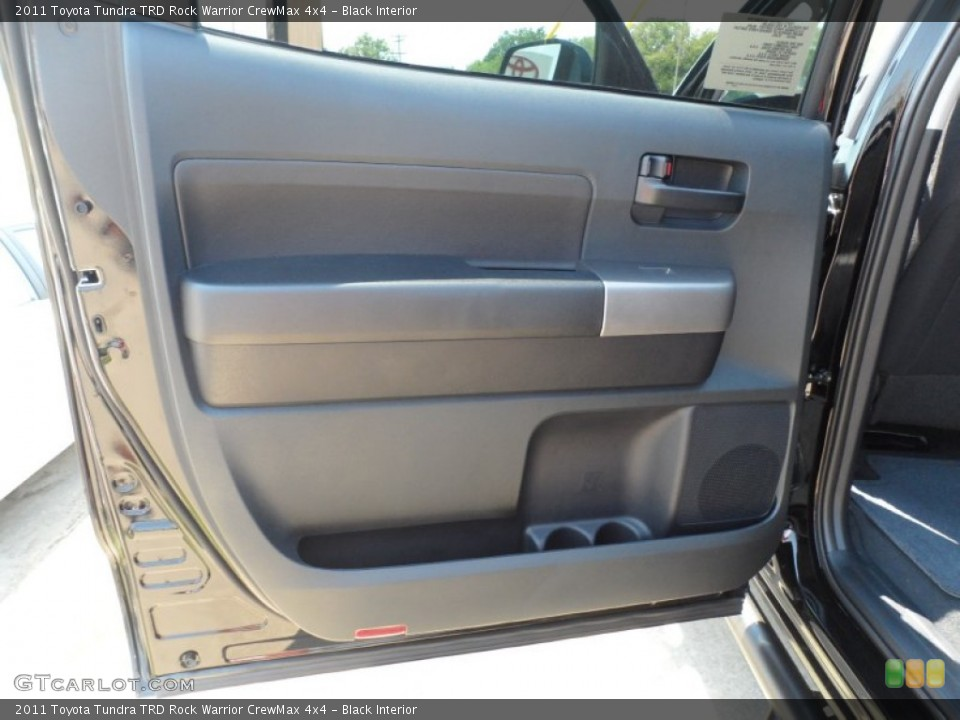Black Interior Door Panel for the 2011 Toyota Tundra TRD Rock Warrior CrewMax 4x4 #53553855