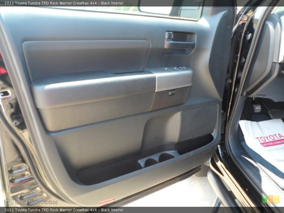 Black Interior Door Panel for the 2011 Toyota Tundra TRD Rock Warrior CrewMax 4x4 #53553883