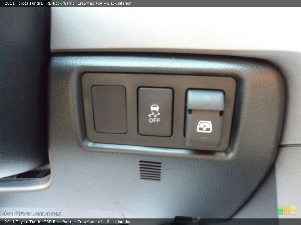 Black Interior Controls for the 2011 Toyota Tundra TRD Rock Warrior CrewMax 4x4 #53554009