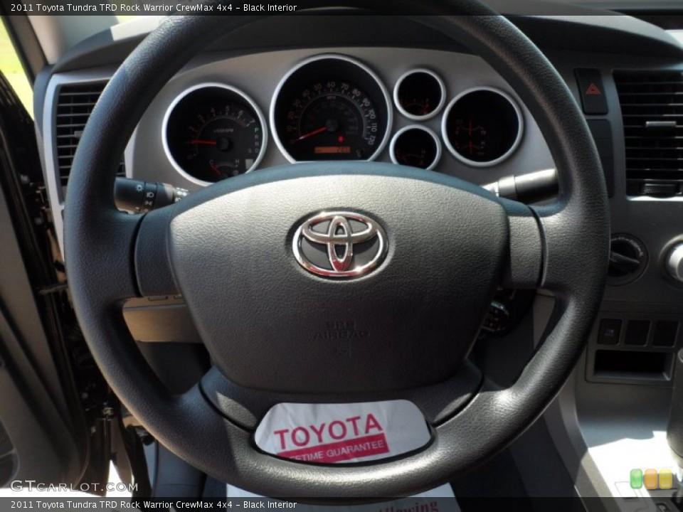 Black Interior Steering Wheel for the 2011 Toyota Tundra TRD Rock Warrior CrewMax 4x4 #53554023