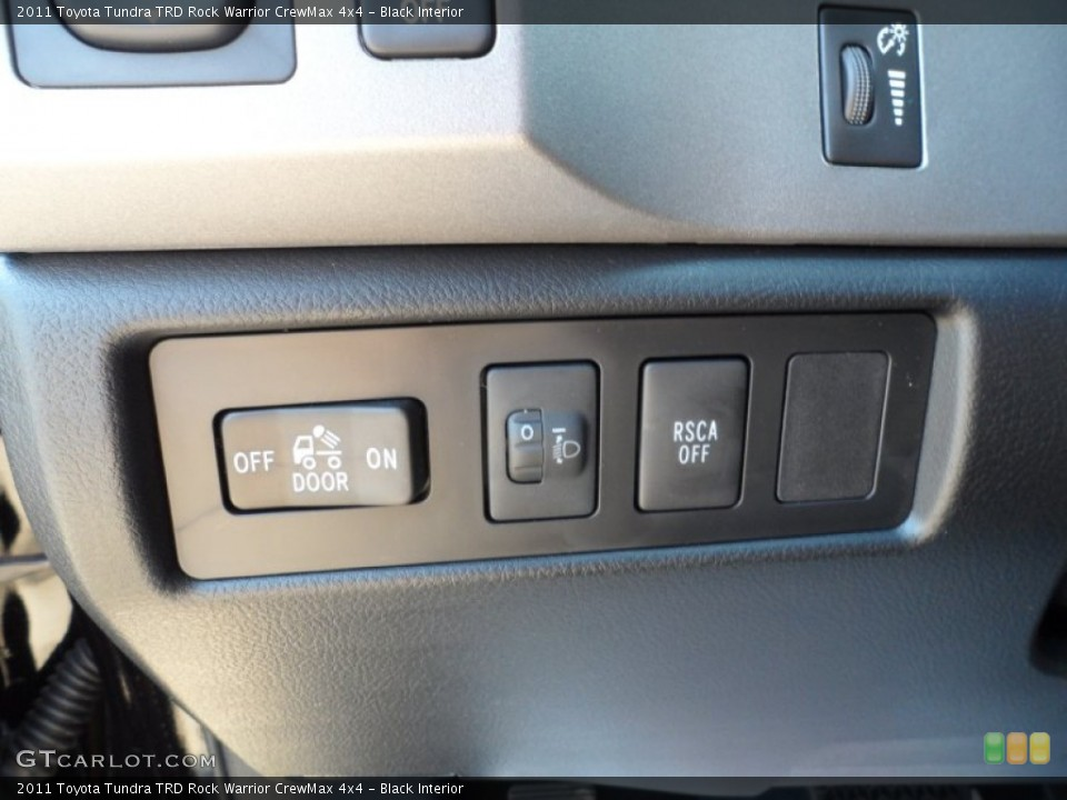 Black Interior Controls for the 2011 Toyota Tundra TRD Rock Warrior CrewMax 4x4 #53554053