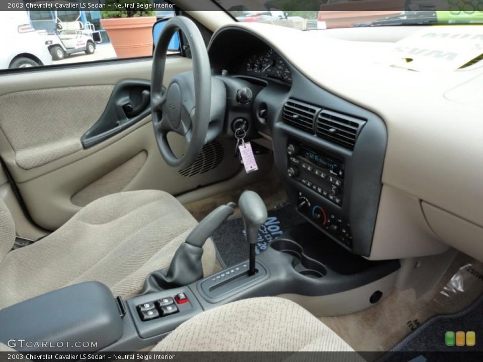 Neutral Beige Interior Dashboard for the 2003 Chevrolet Cavalier ...