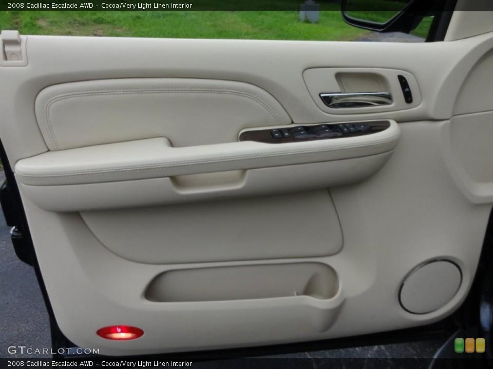 Cocoa/Very Light Linen Interior Door Panel for the 2008 Cadillac Escalade AWD #53648409