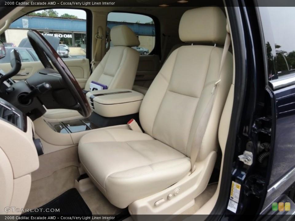 Cocoa/Very Light Linen Interior Photo for the 2008 Cadillac Escalade AWD #53648447