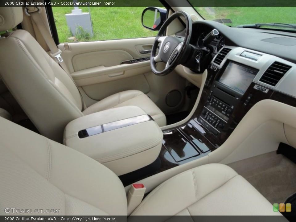 Cocoa/Very Light Linen Interior Photo for the 2008 Cadillac Escalade AWD #53648479
