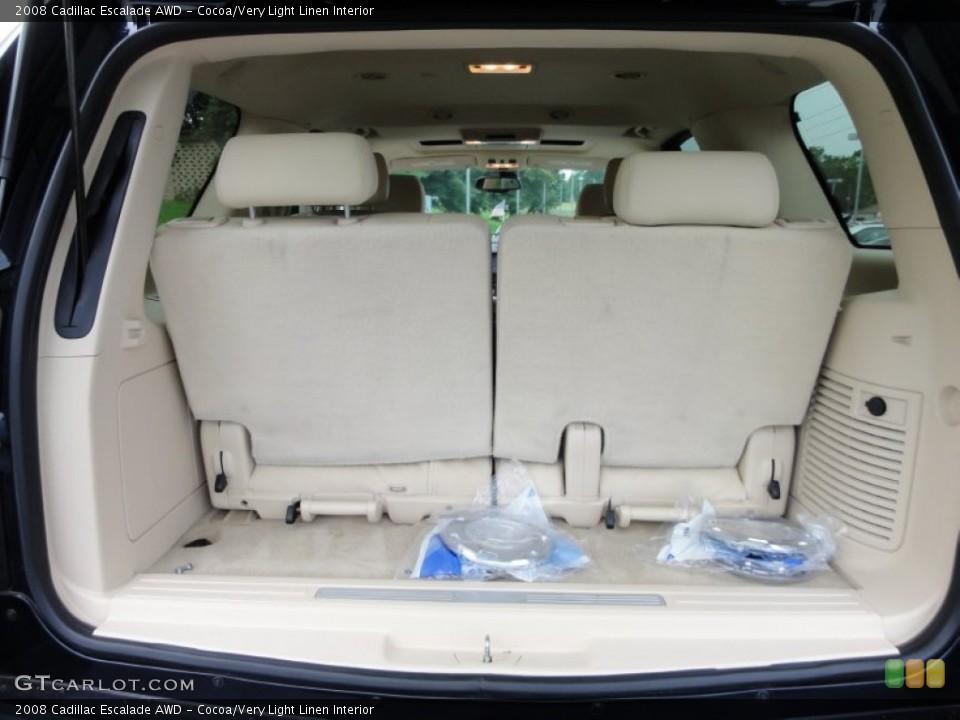 Cocoa/Very Light Linen Interior Trunk for the 2008 Cadillac Escalade AWD #53648565