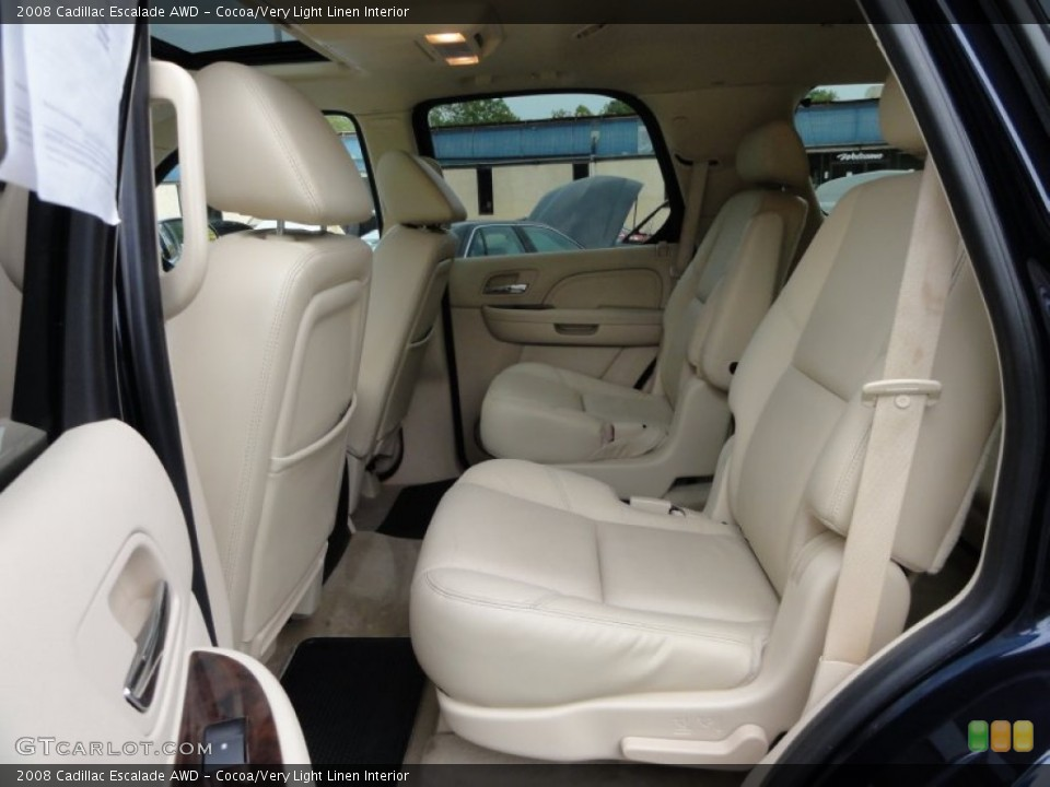 Cocoa/Very Light Linen Interior Photo for the 2008 Cadillac Escalade AWD #53648581
