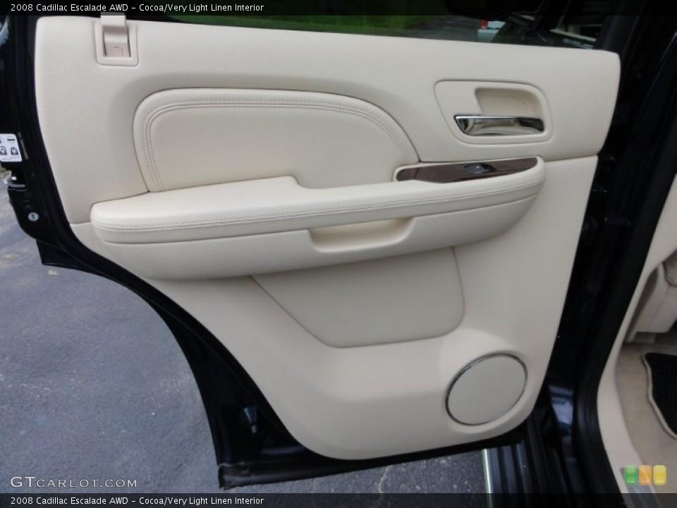 Cocoa/Very Light Linen Interior Door Panel for the 2008 Cadillac Escalade AWD #53648596