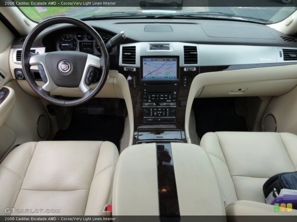 Cocoa/Very Light Linen Interior Dashboard for the 2008 Cadillac Escalade AWD #53648624