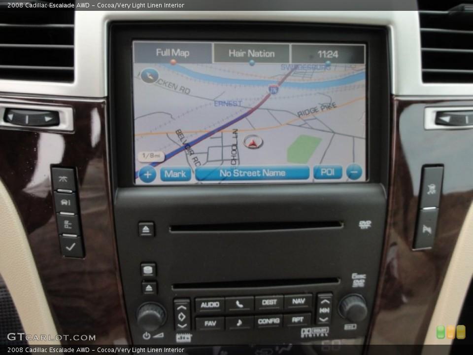 Cocoa/Very Light Linen Interior Navigation for the 2008 Cadillac Escalade AWD #53648718