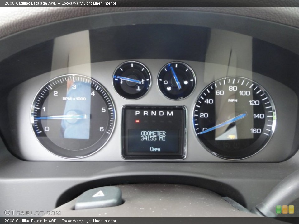 Cocoa/Very Light Linen Interior Gauges for the 2008 Cadillac Escalade AWD #53648747