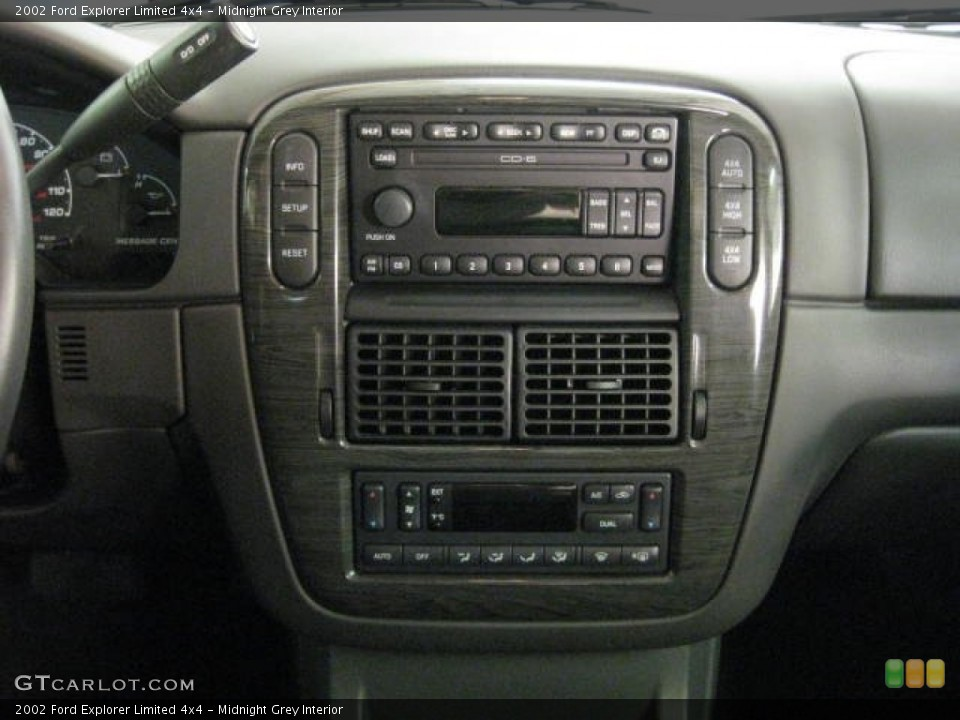 Midnight Grey Interior Controls for the 2002 Ford Explorer Limited 4x4 #53650578