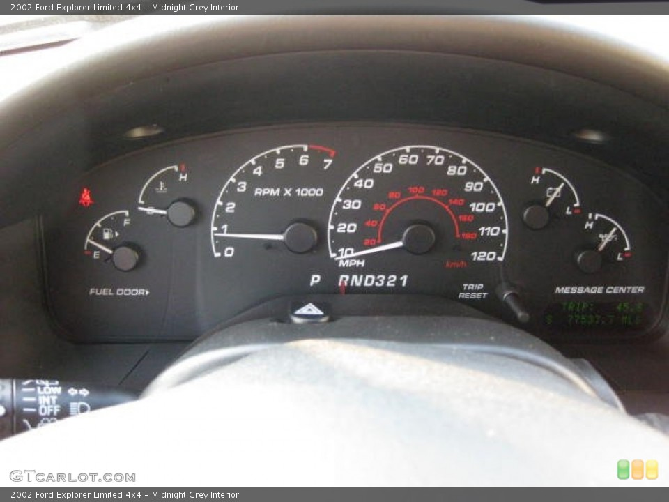 Midnight Grey Interior Gauges for the 2002 Ford Explorer Limited 4x4 #53650602