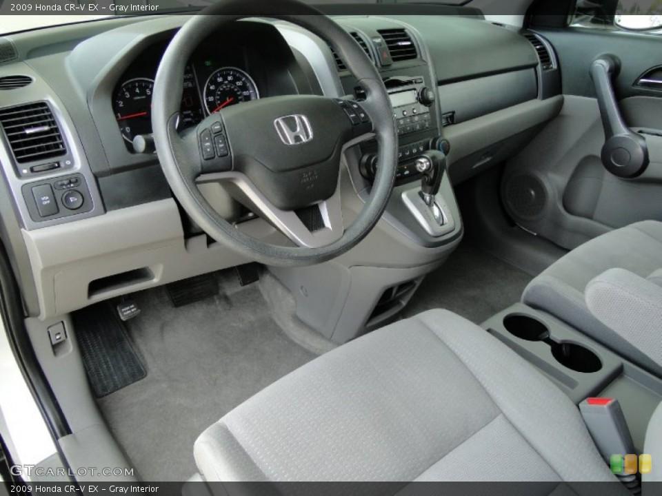 Gray Interior Photo for the 2009 Honda CR-V EX #53755758