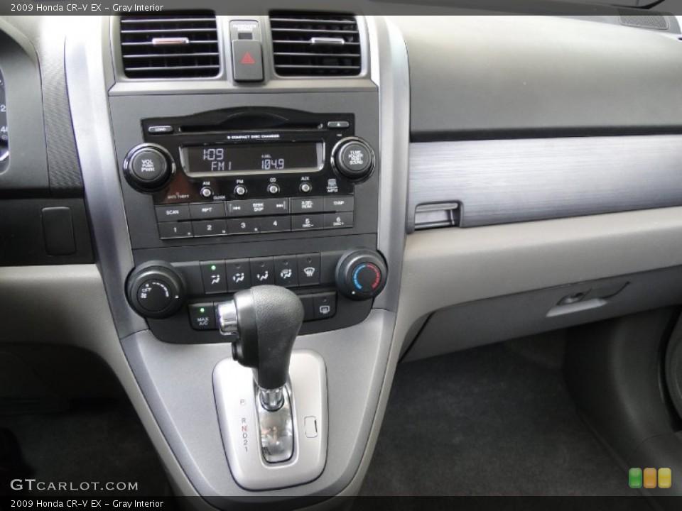 Gray Interior Controls for the 2009 Honda CR-V EX #53755812