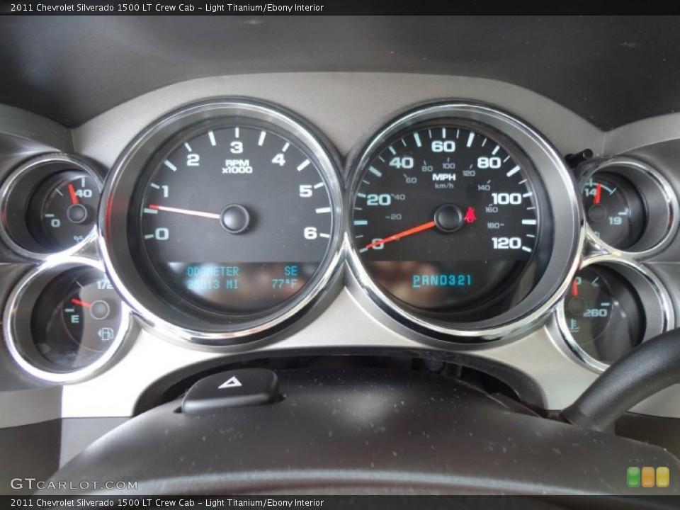 Light Titanium/Ebony Interior Gauges for the 2011 Chevrolet Silverado 1500 LT Crew Cab #53762579