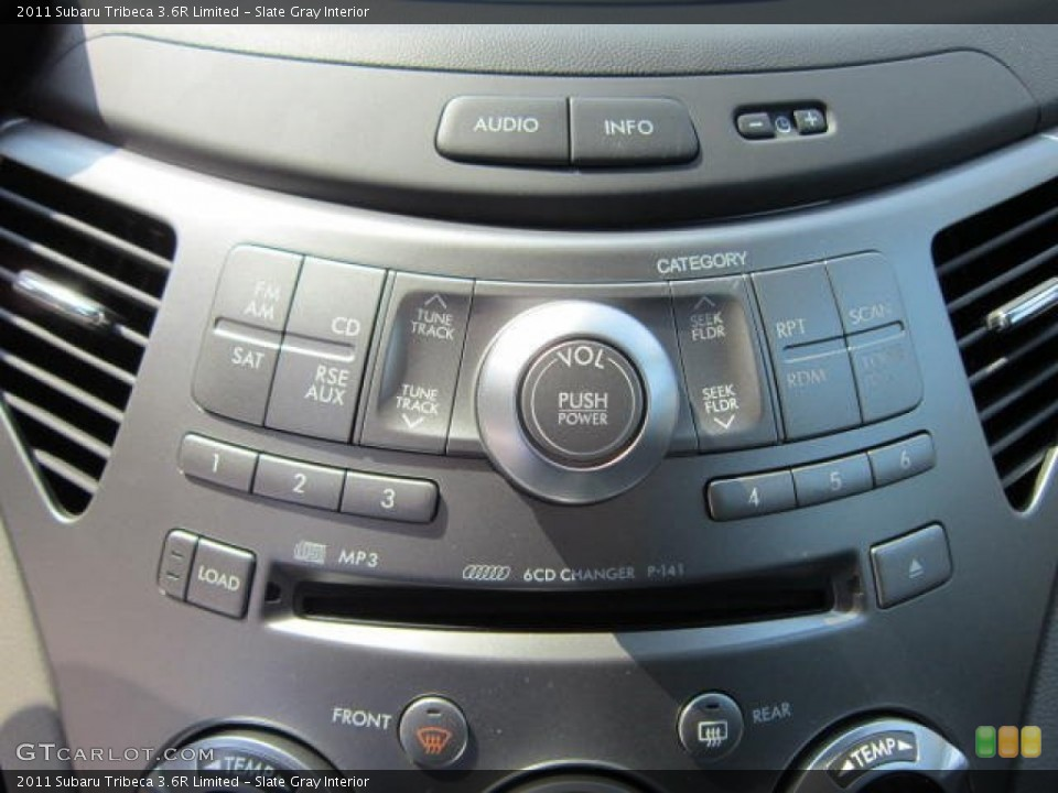 Slate Gray Interior Audio System for the 2011 Subaru Tribeca 3.6R Limited #53770649