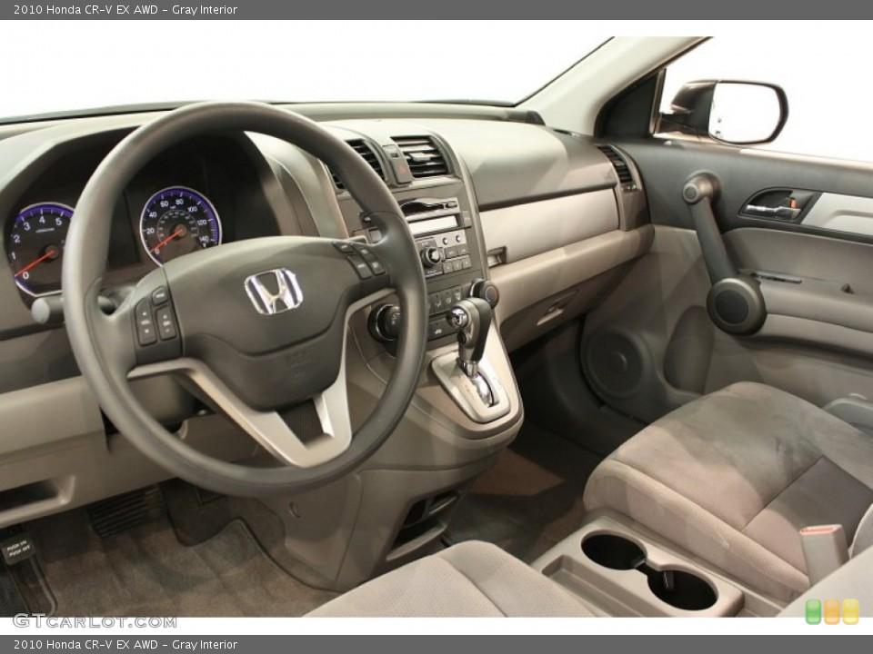 Gray Interior Dashboard for the 2010 Honda CR-V EX AWD #53793916