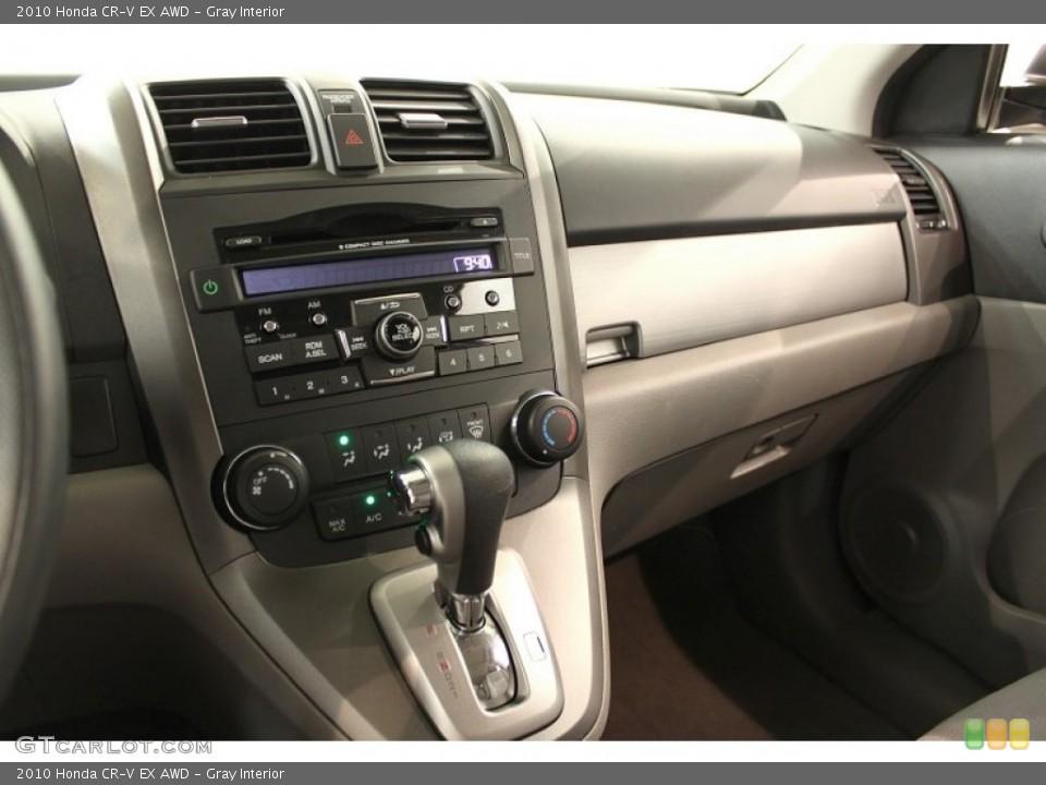 Gray Interior Controls for the 2010 Honda CR-V EX AWD #53793934