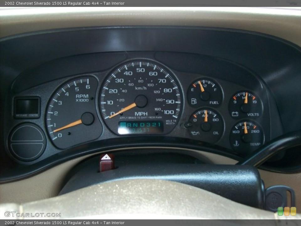 Tan Interior Gauges for the 2002 Chevrolet Silverado 1500 LS Regular Cab 4x4 #53795574