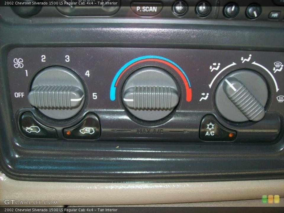Tan Interior Controls for the 2002 Chevrolet Silverado 1500 LS Regular Cab 4x4 #53795605