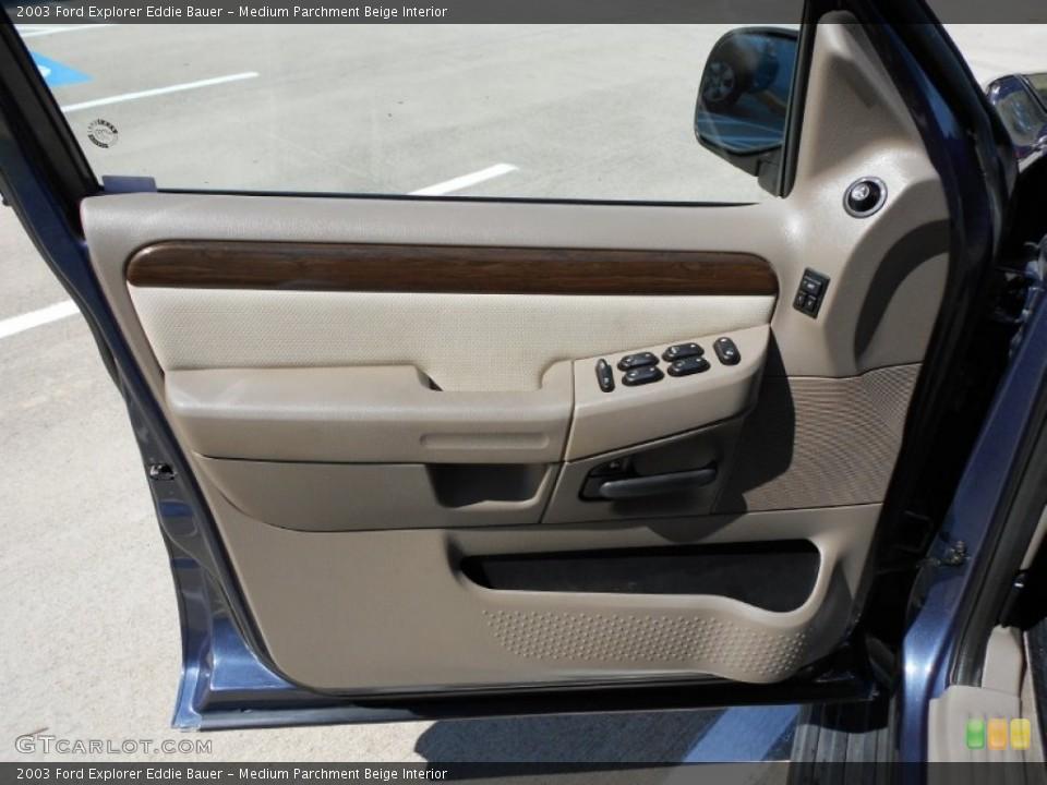 Medium Parchment Beige Interior Door Panel for the 2003 Ford Explorer Eddie Bauer #53817731