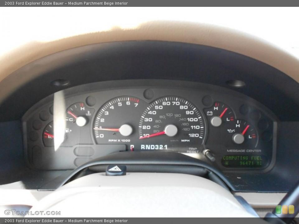 Medium Parchment Beige Interior Gauges for the 2003 Ford Explorer Eddie Bauer #53817809