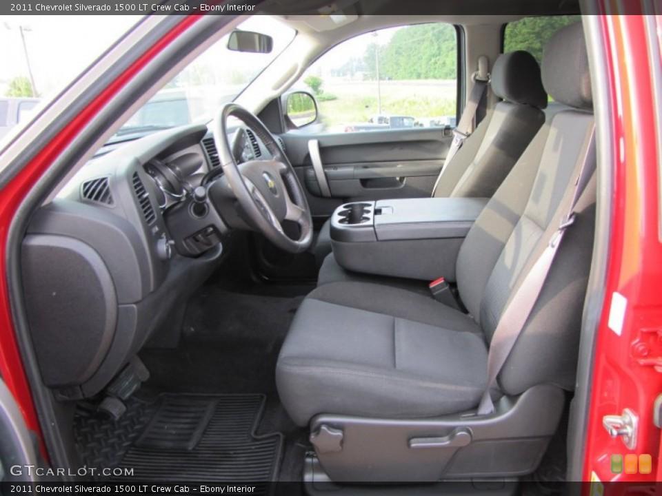 Ebony Interior Photo for the 2011 Chevrolet Silverado 1500 LT Crew Cab #53831163
