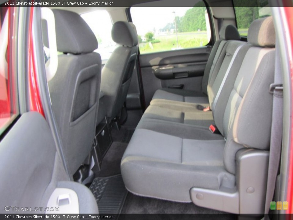 Ebony Interior Photo for the 2011 Chevrolet Silverado 1500 LT Crew Cab #53831178