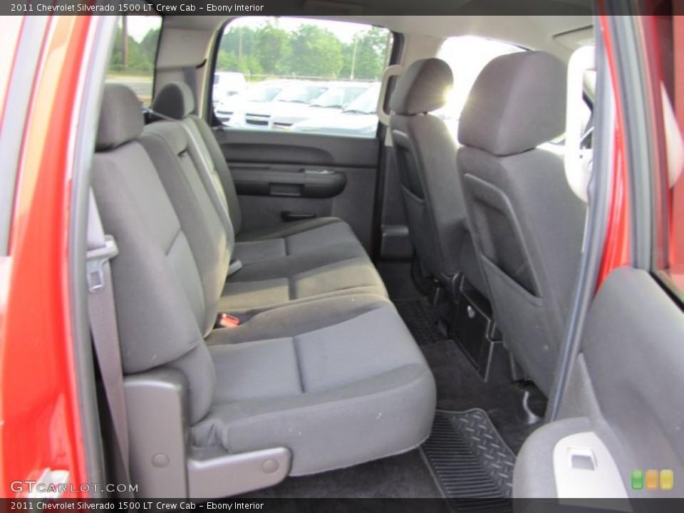 Ebony Interior Photo for the 2011 Chevrolet Silverado 1500 LT Crew Cab #53831185