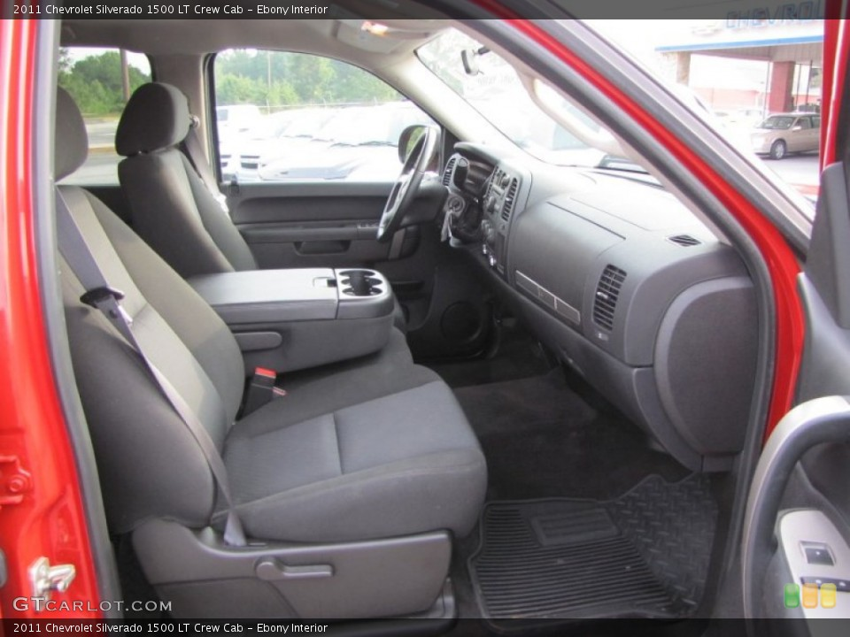 Ebony Interior Photo for the 2011 Chevrolet Silverado 1500 LT Crew Cab #53831190