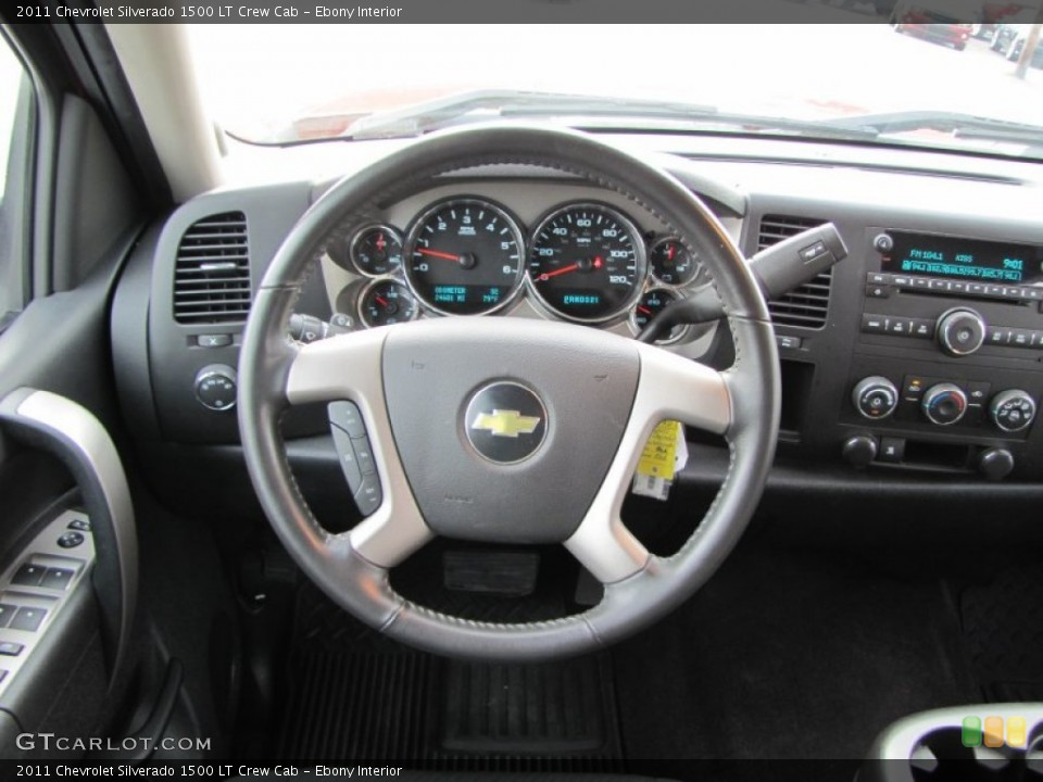 Ebony Interior Steering Wheel for the 2011 Chevrolet Silverado 1500 LT Crew Cab #53831205