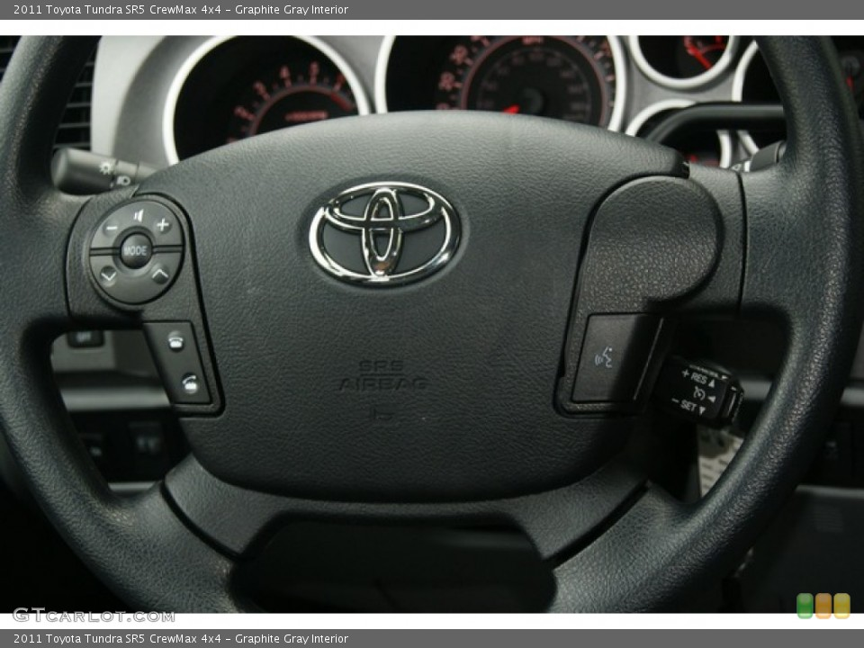 Graphite Gray Interior Steering Wheel for the 2011 Toyota Tundra SR5 CrewMax 4x4 #53895719