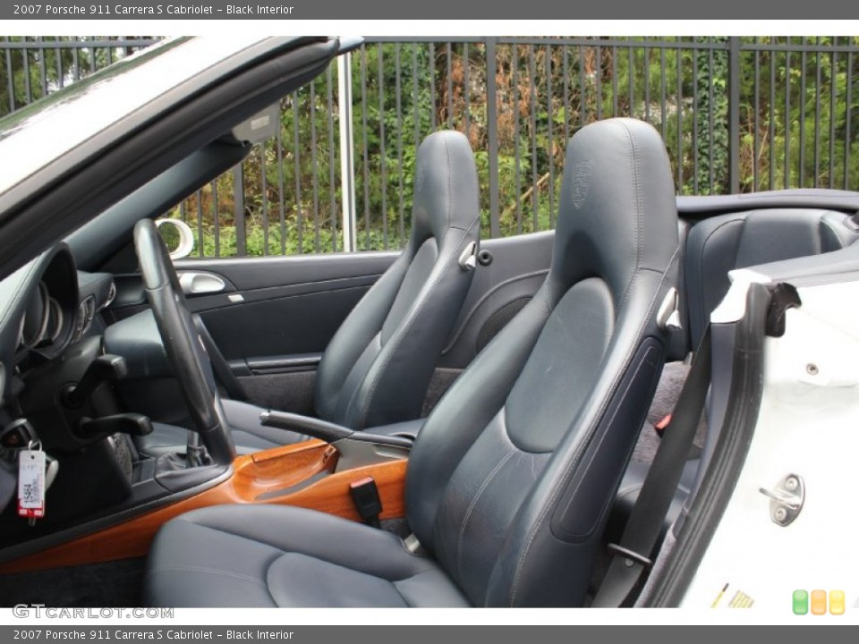 Black Interior Photo for the 2007 Porsche 911 Carrera S Cabriolet #53915779