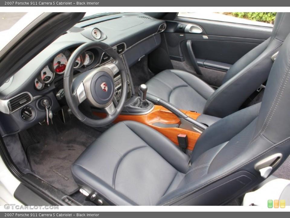 Black Interior Photo for the 2007 Porsche 911 Carrera S Cabriolet #53915797