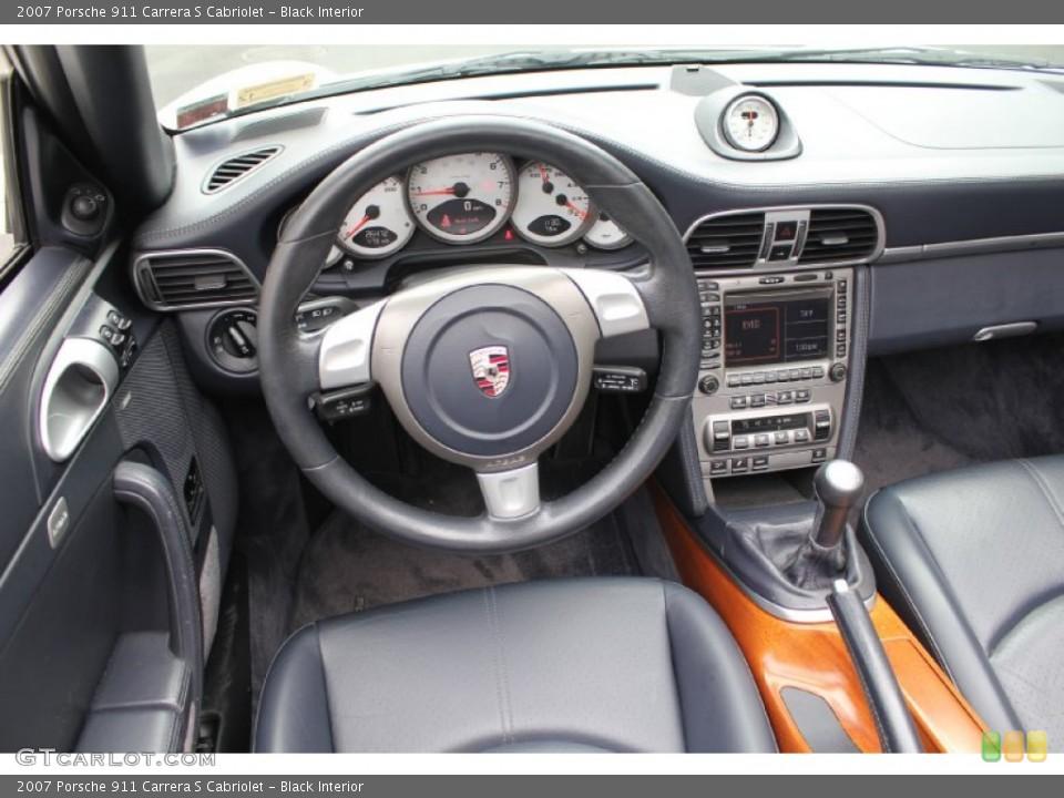 Black Interior Transmission for the 2007 Porsche 911 Carrera S Cabriolet #53915806
