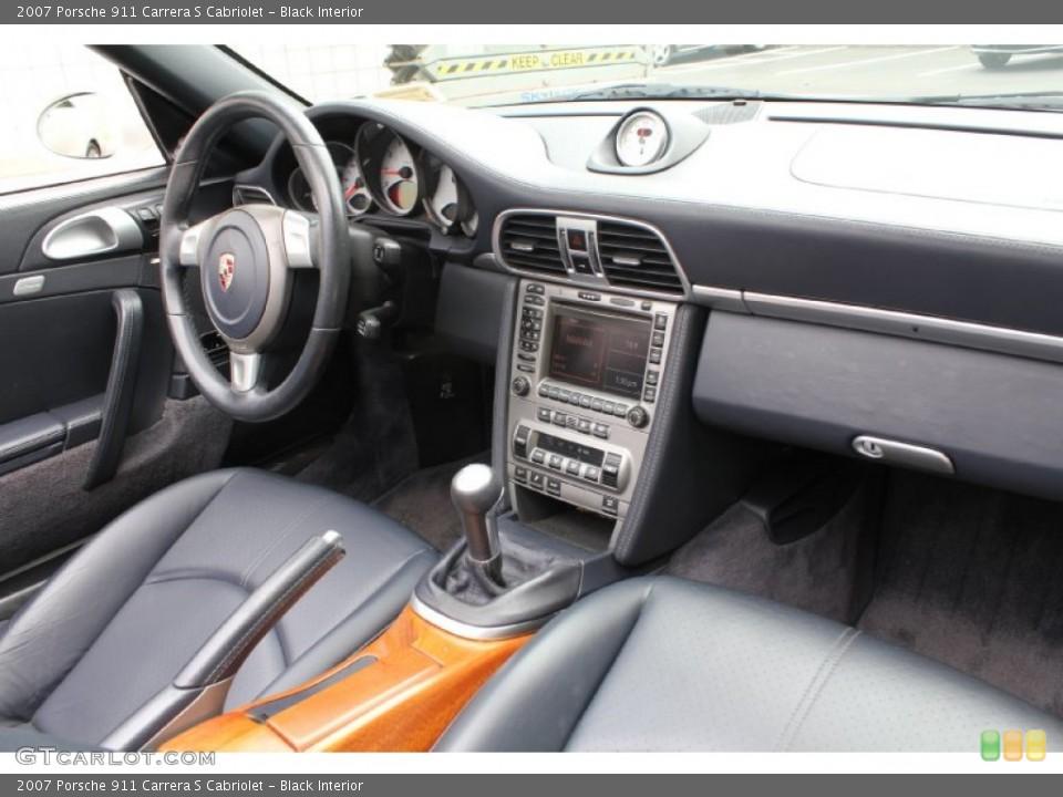 Black Interior Dashboard for the 2007 Porsche 911 Carrera S Cabriolet #53915818