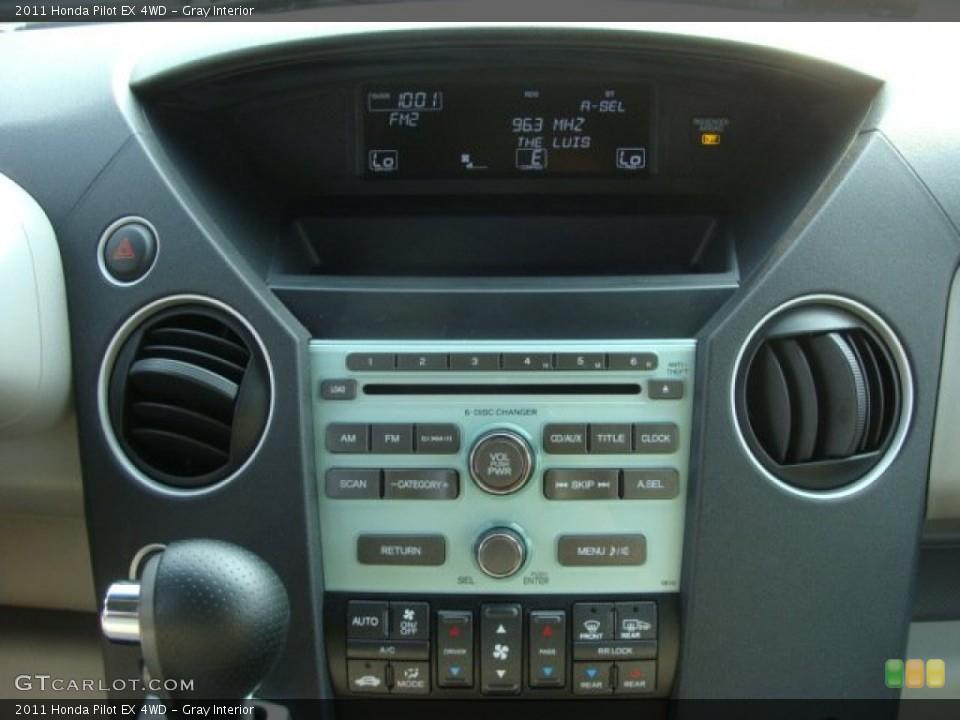 Gray Interior Controls for the 2011 Honda Pilot EX 4WD #54134247