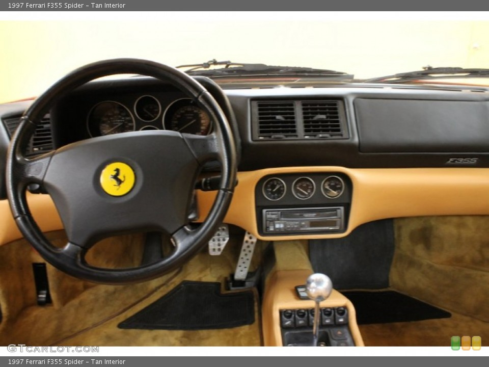Tan Interior Dashboard for the 1997 Ferrari F355 Spider #54179257