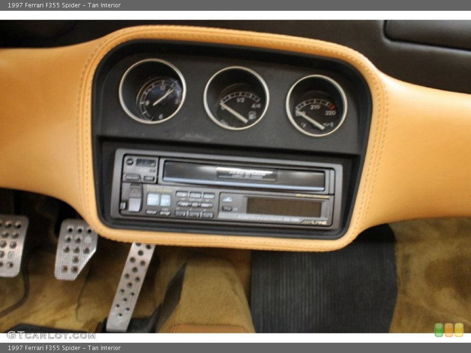 Tan Interior Audio System for the 1997 Ferrari F355 Spider #54179275