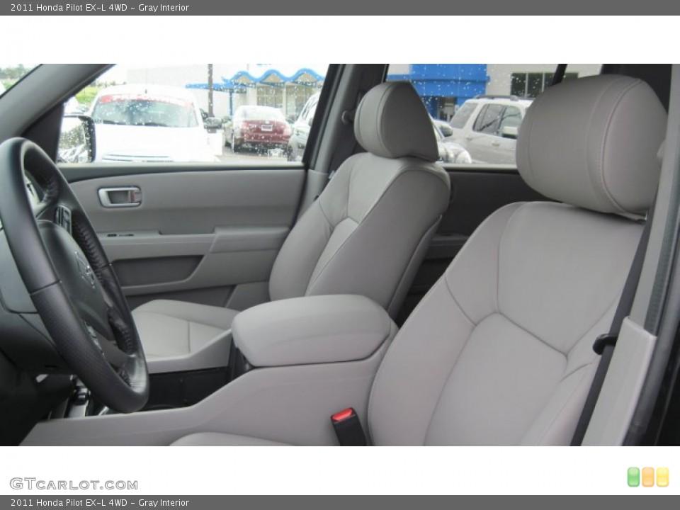 Gray Interior Photo for the 2011 Honda Pilot EX-L 4WD #54416140