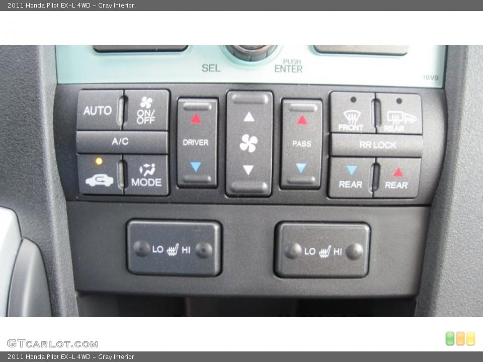 Gray Interior Controls for the 2011 Honda Pilot EX-L 4WD #54416233